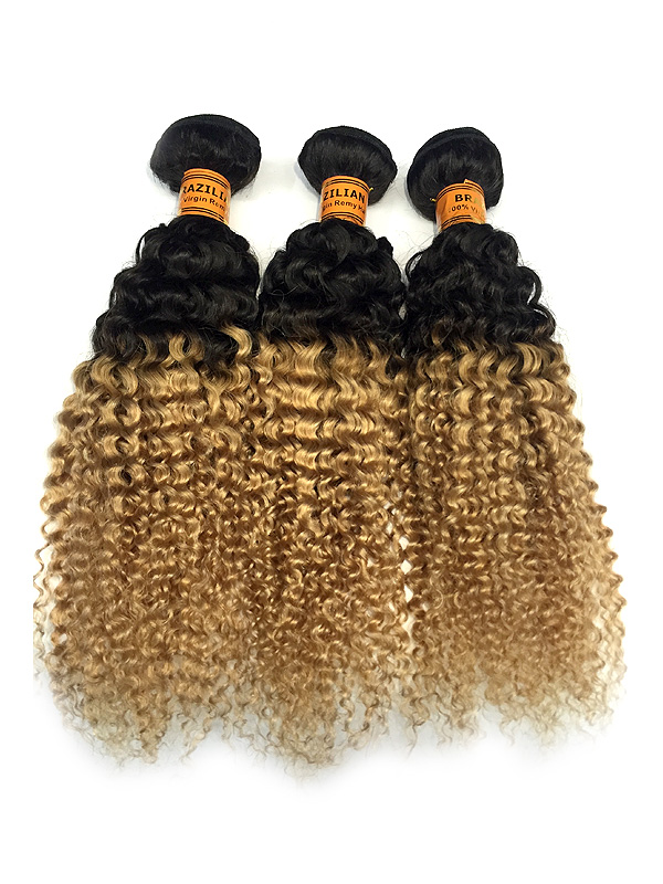 Brazilian Weft Hair Extension Ombre 1b27 Tight Curl Xsandys