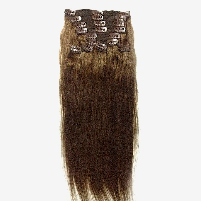 Indian Remy Clip In Hair Extension 6 Silky Straight Xsandys