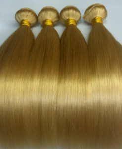 gold straight hair extensions