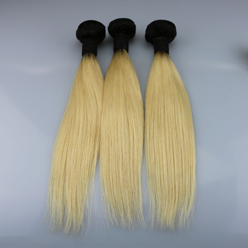 Indian Remy Weft Hair Extension Ombre 1bt613 Silky Straight