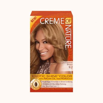 Creme of Nature Exotic Shine Colour – Light Caramel Brown
